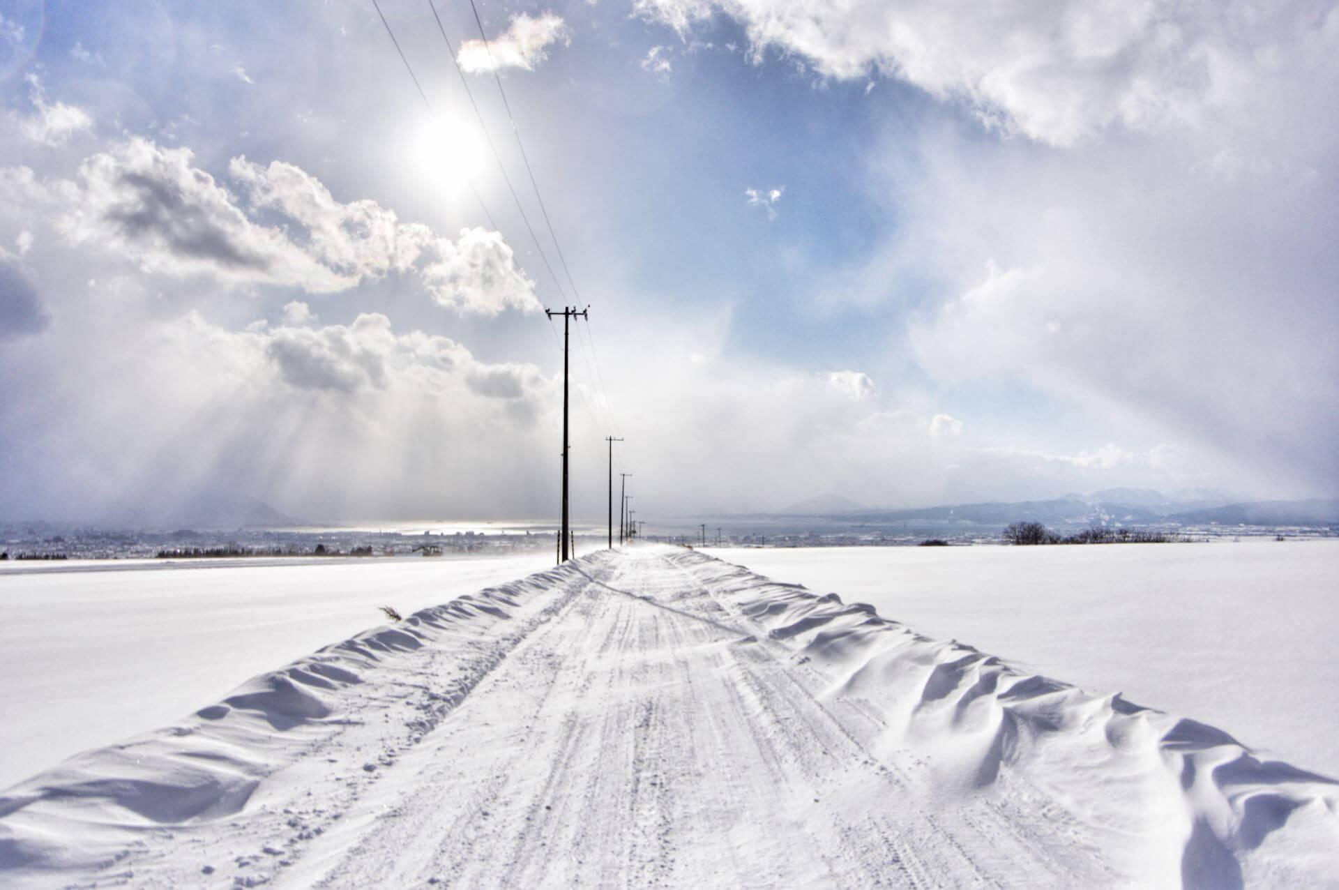 snow-road